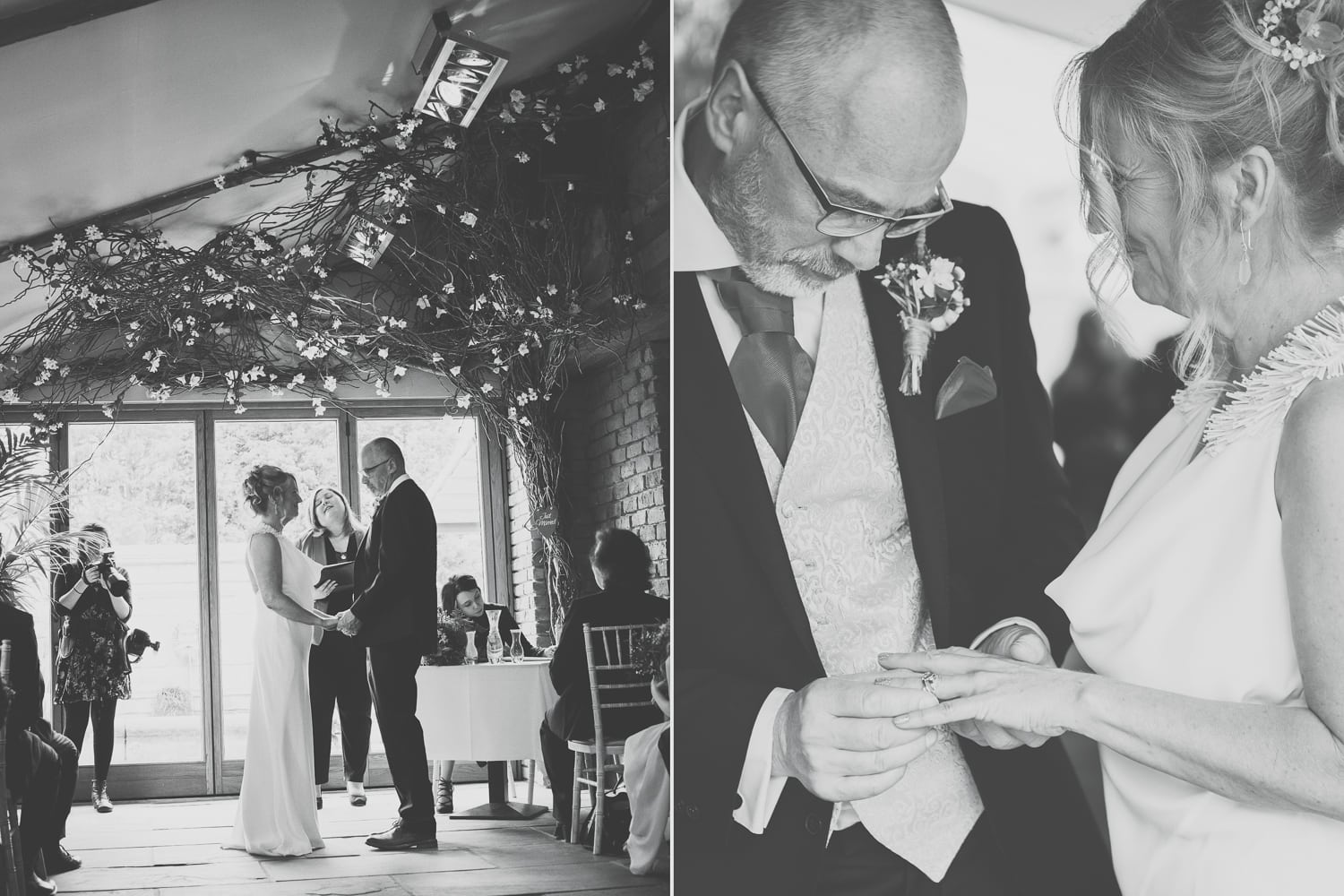 Newton Hall, marriage vows, exchanging rings
