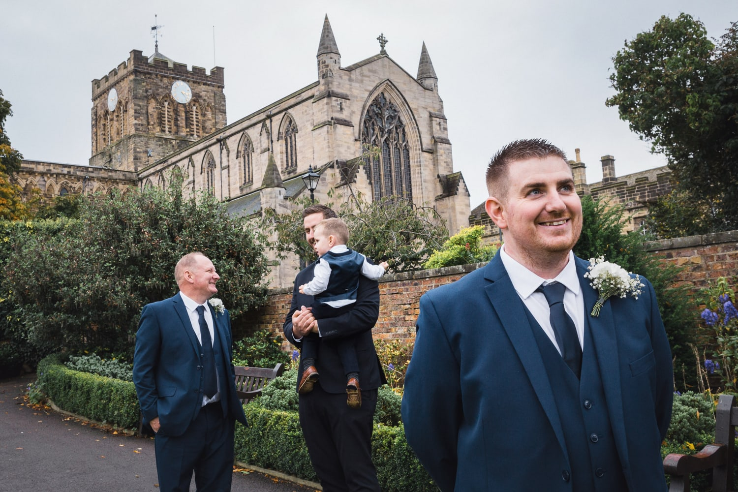 Hexham Abbey Wedding groomsmen