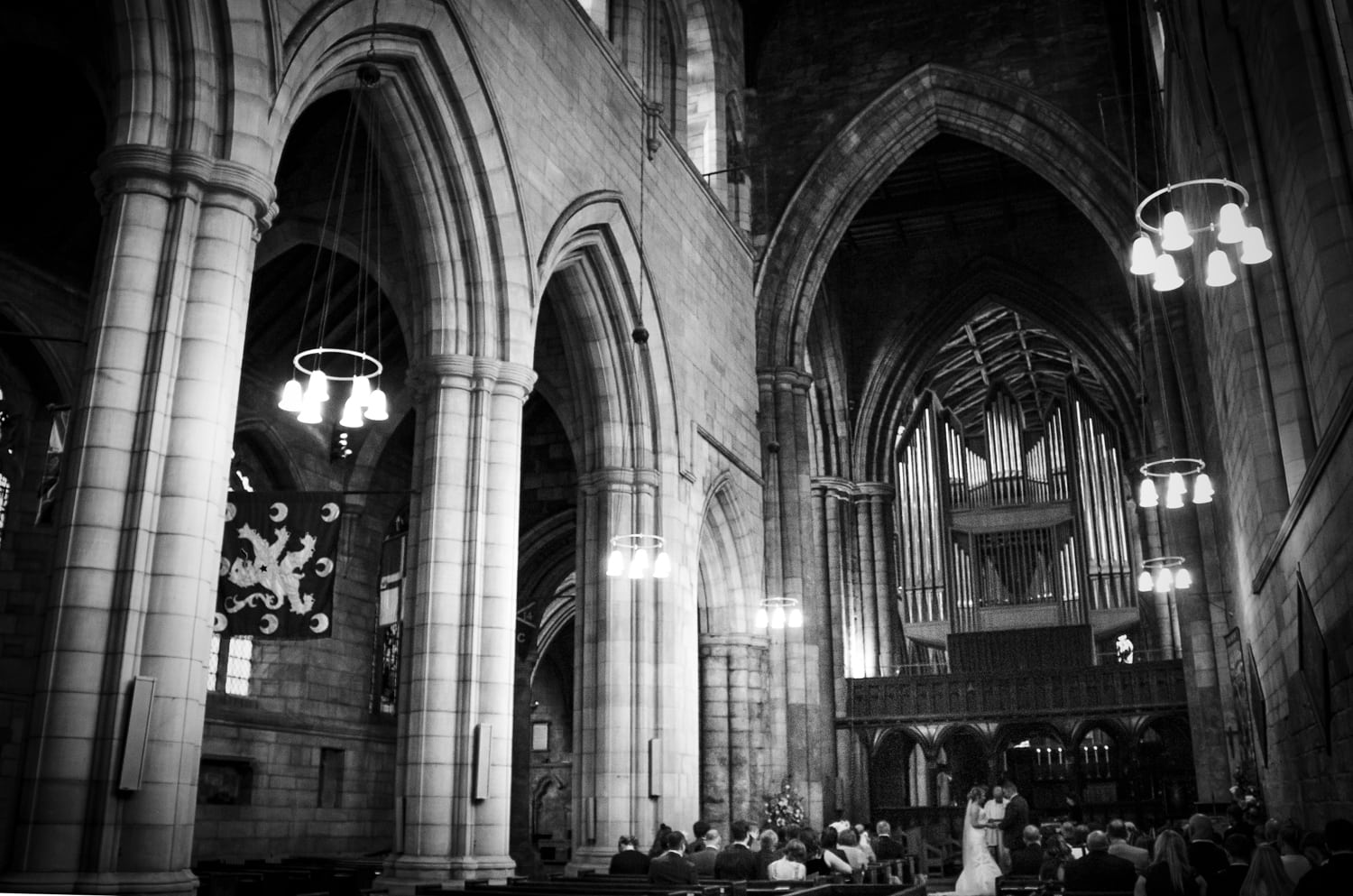 Hexham Abbey Wedding, service