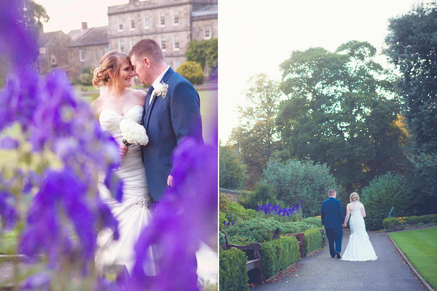 Hexham Abbey Wedding, bride and groom romance