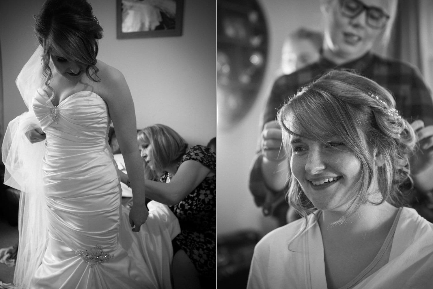 Hexham Abbey Wedding, getting ready