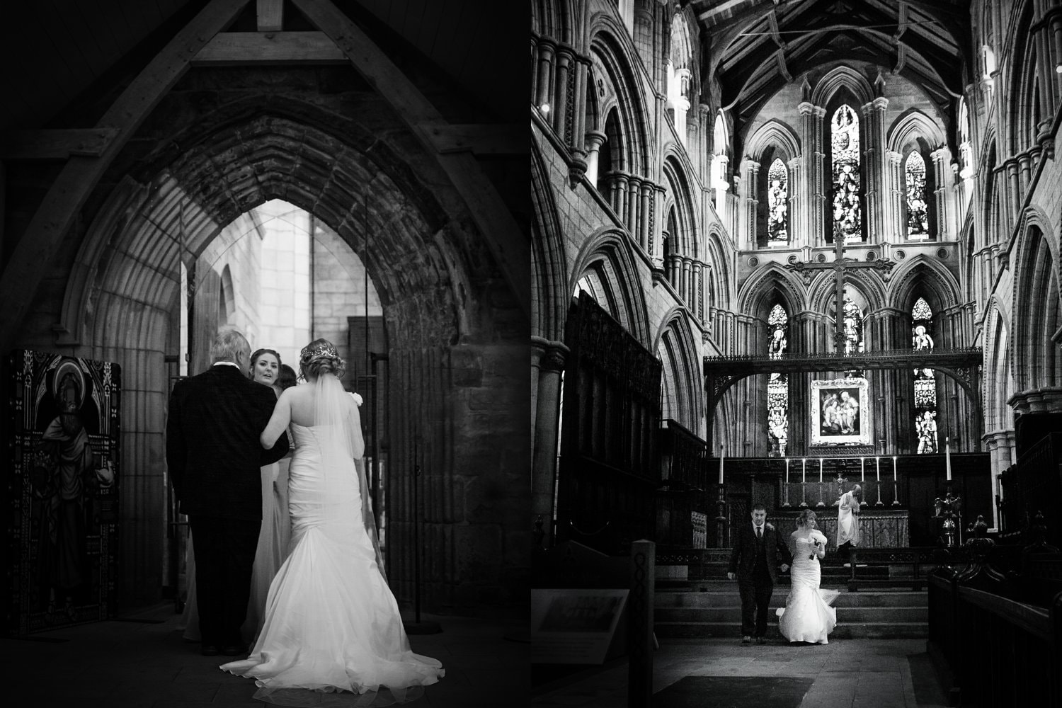 Hexham Abbey Wedding, inside the abbey