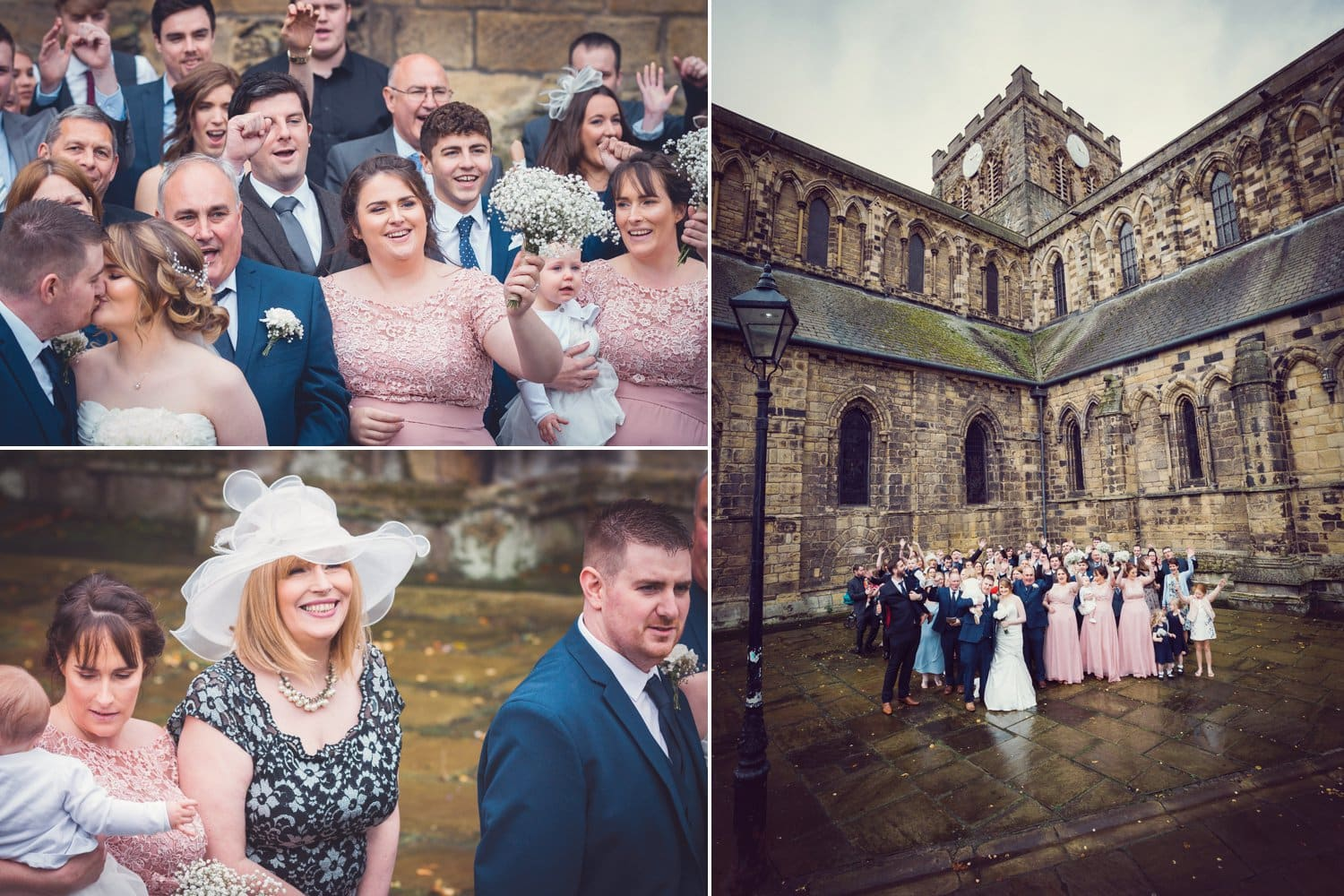 Hexham Abbey Wedding group photograph