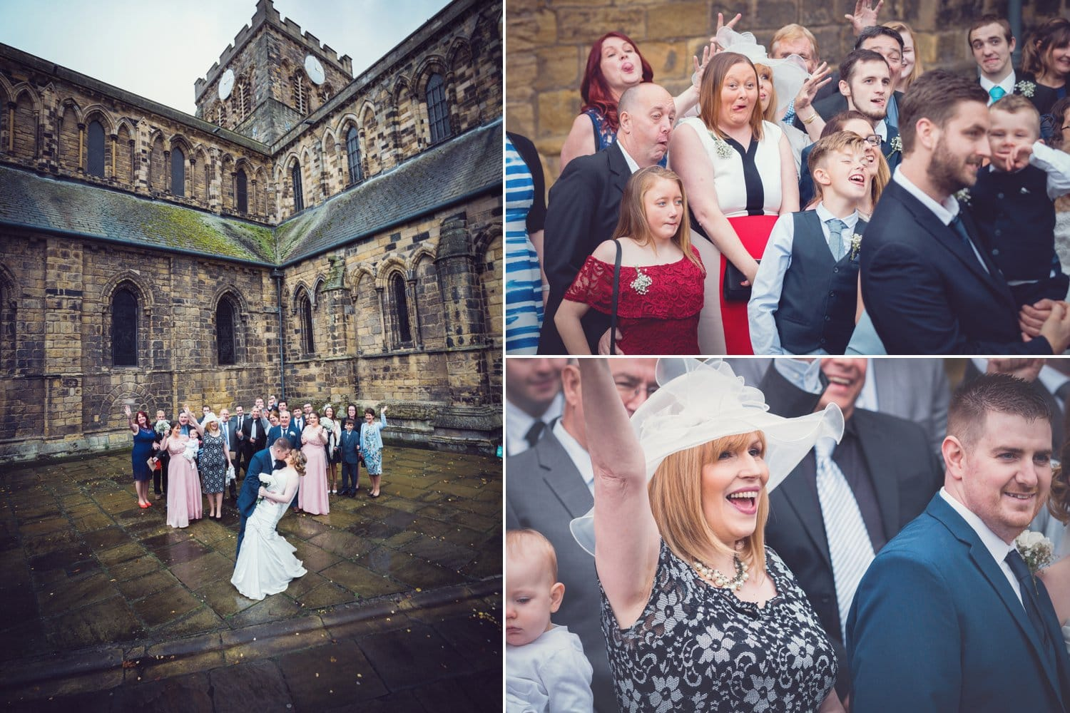 Hexham Abbey Wedding, group photo