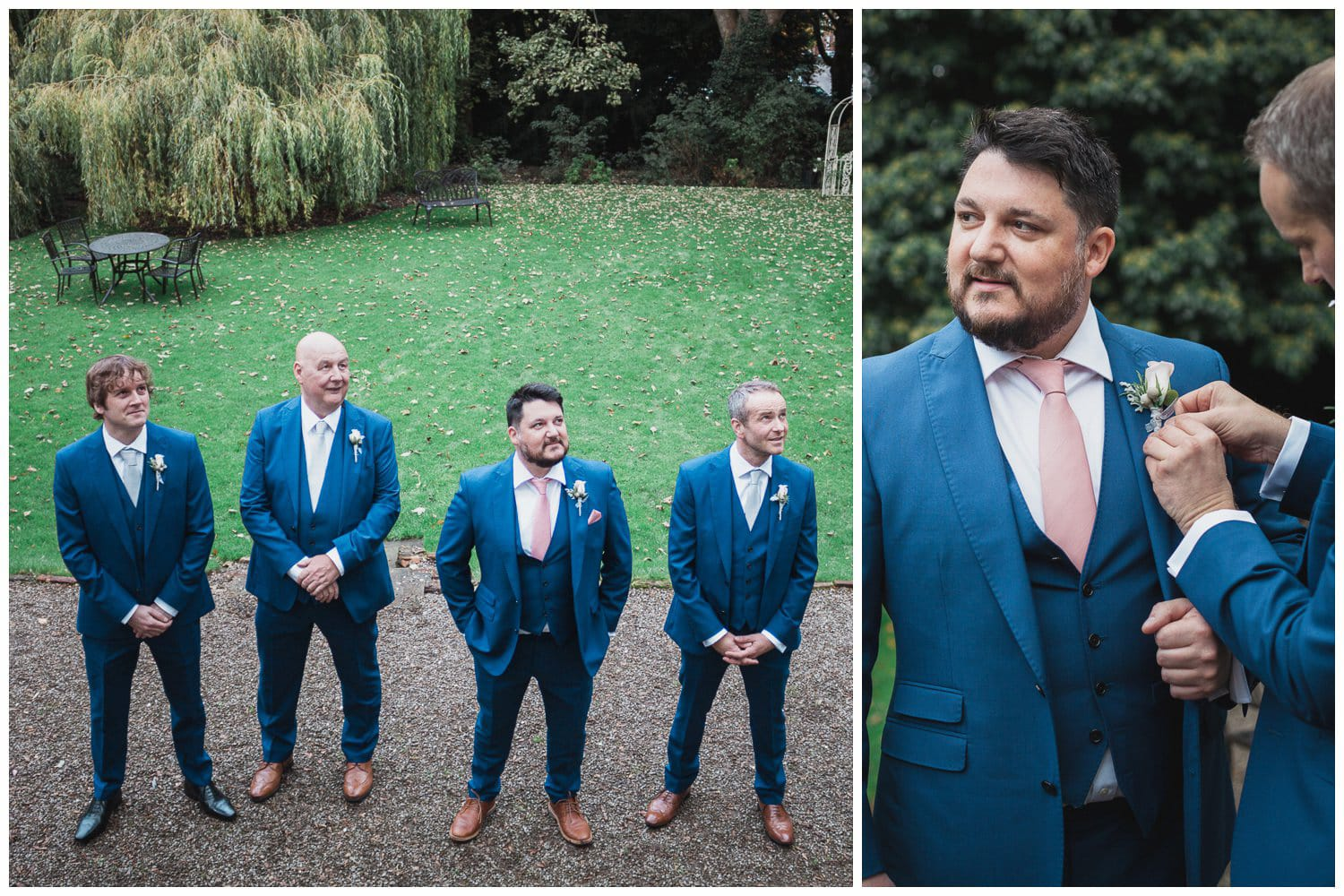 The Old Deanery Wedding, groomsmen