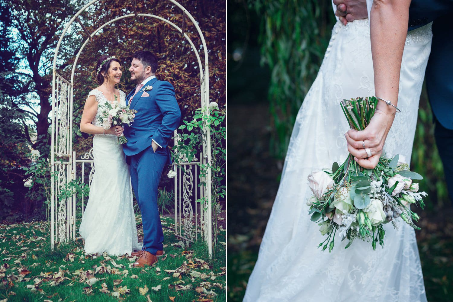 The Old Deanery Wedding, wedding flowers and archway