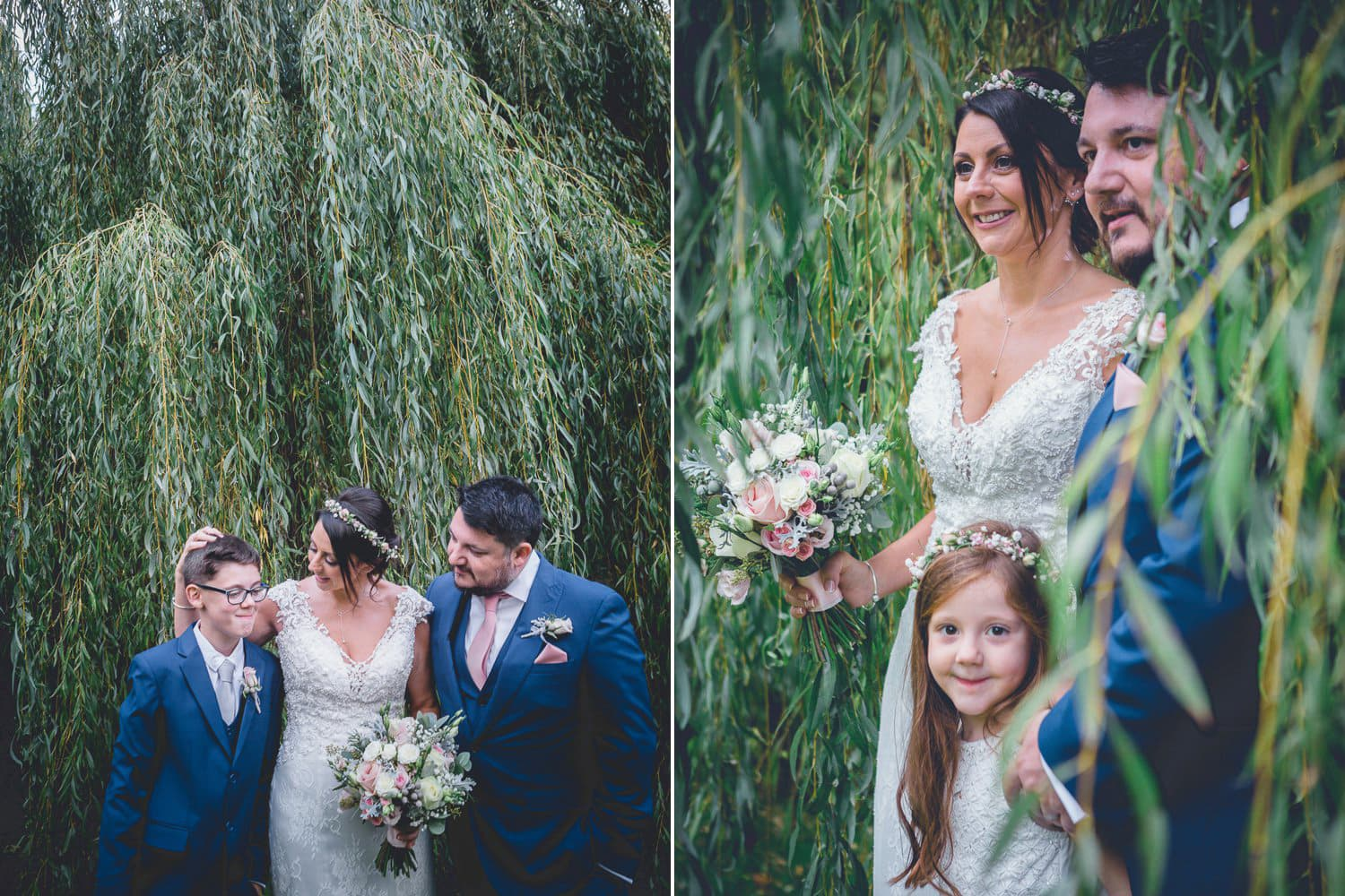 The Old Deanery Wedding, willow tree bride