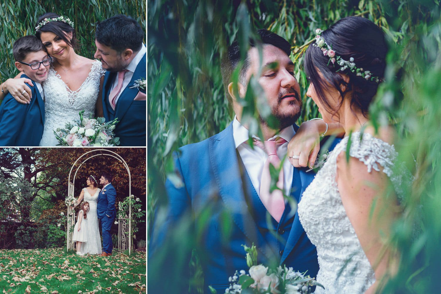 The Old Deanery Wedding, willow tree portraits