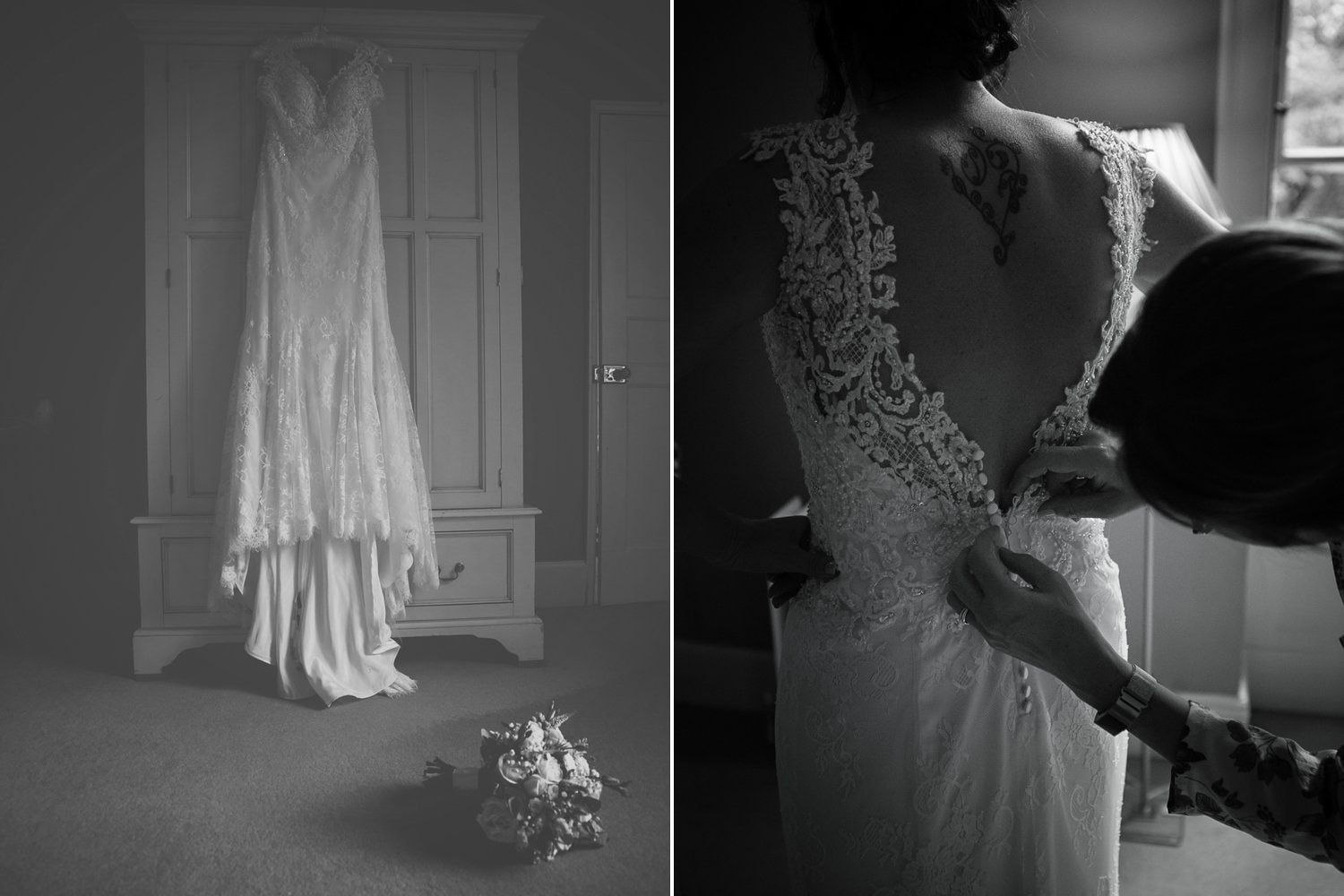 The Old Deanery Wedding, wedding dress