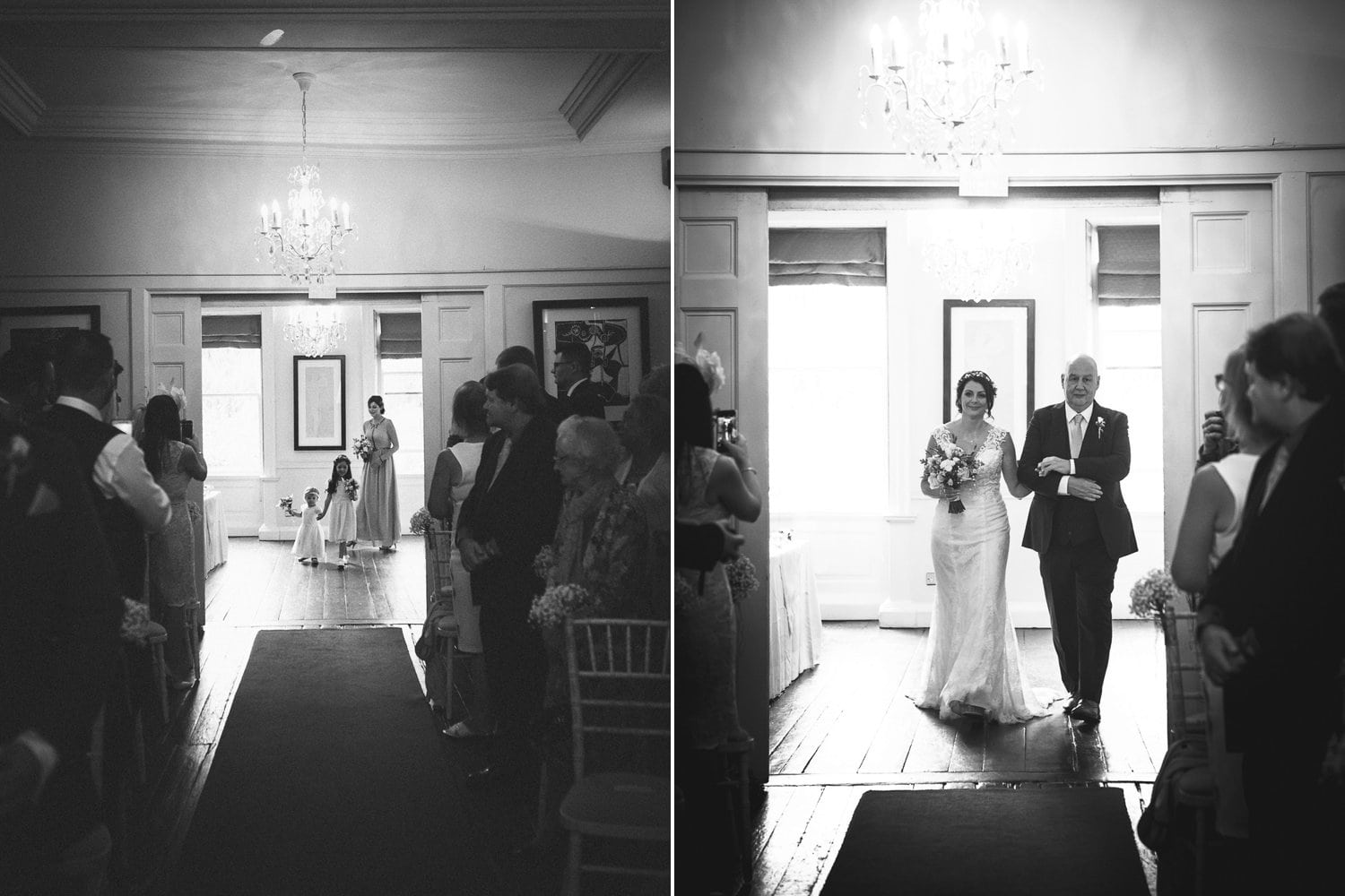 The Old Deanery Wedding aisle