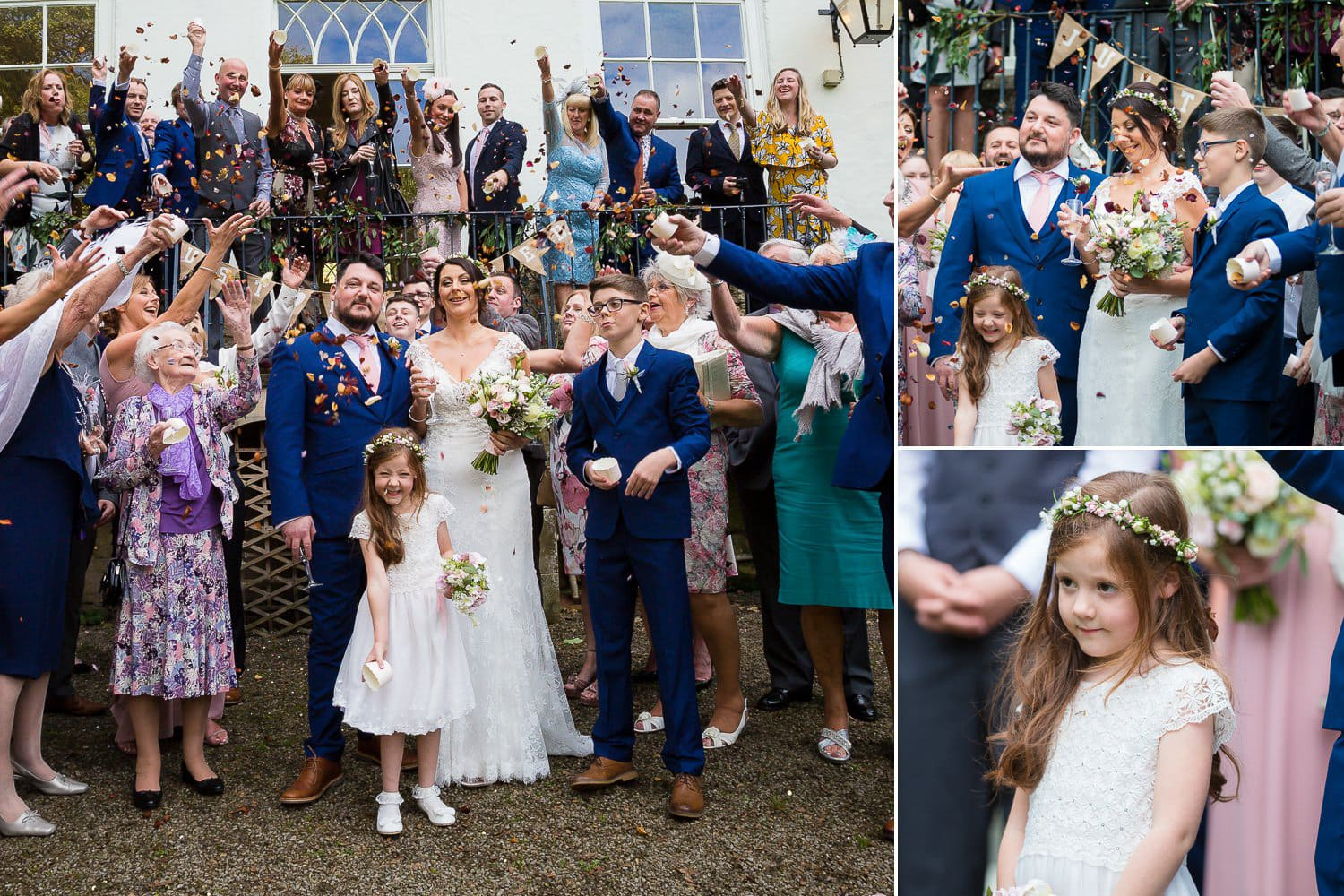 The Old Deanery Wedding, confetti
