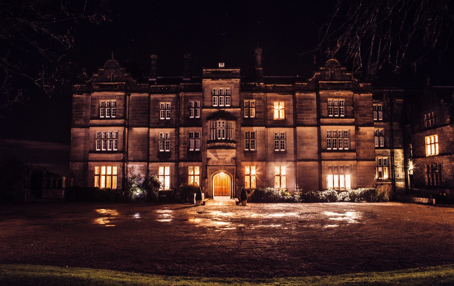Matfen Hall at night