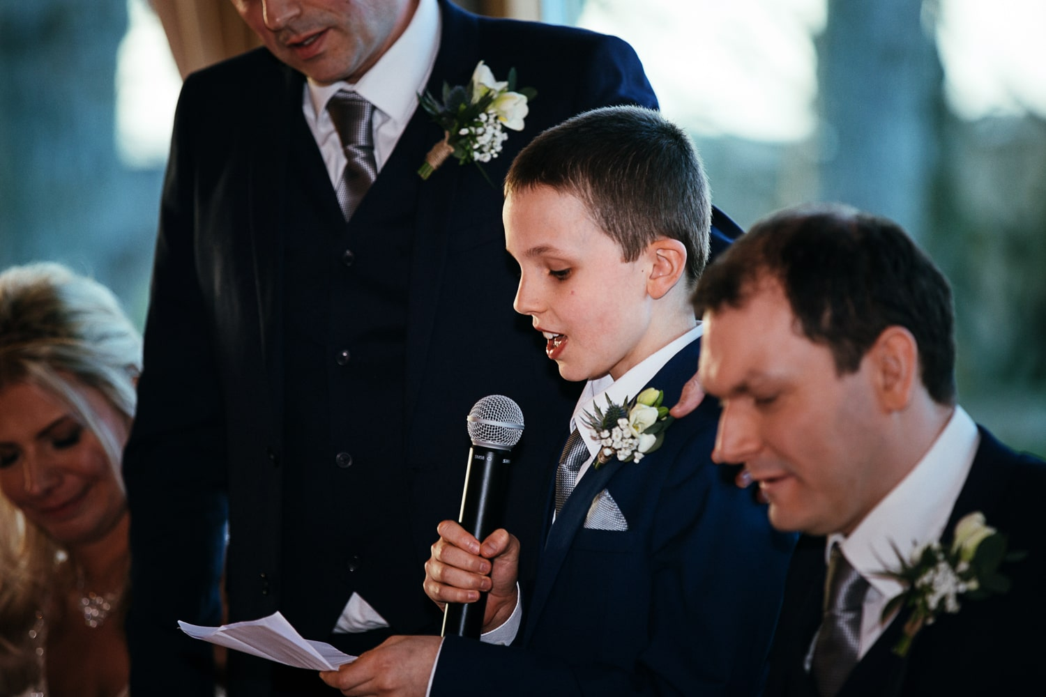Newton Hall, wedding speeches, child takes mike