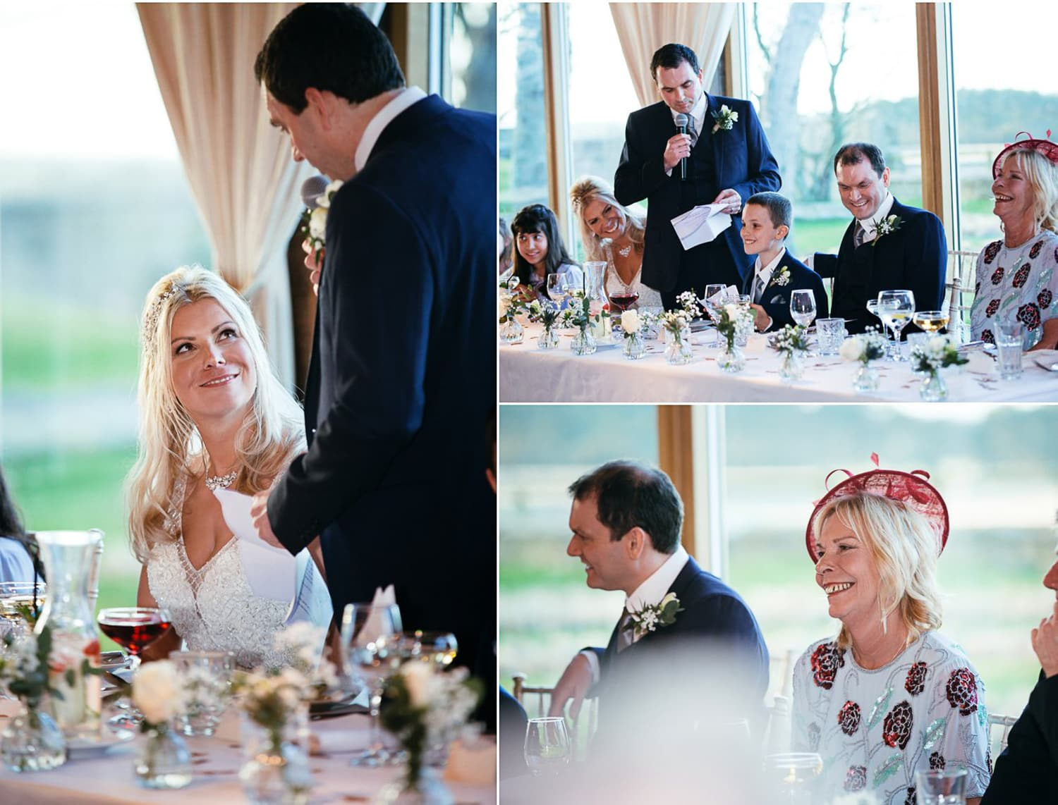 Newton Hall, wedding speeches collage