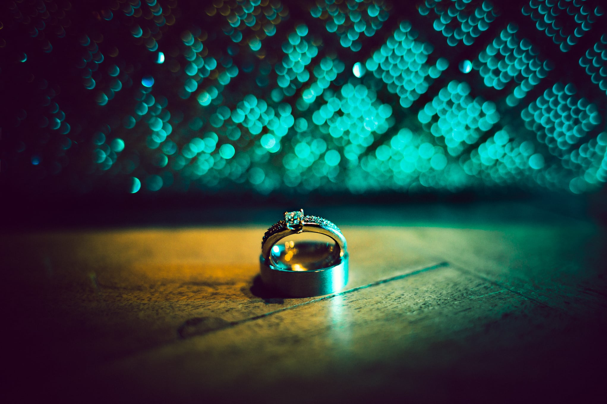 Le Petit Chateau, wedding ring bokeh