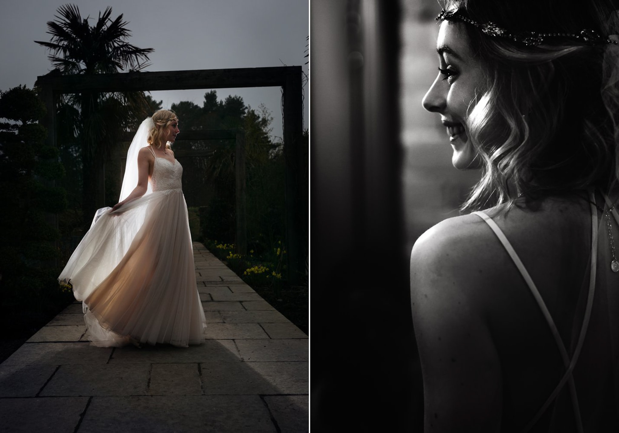 Le Petit Chateau, bride with backlit dress
