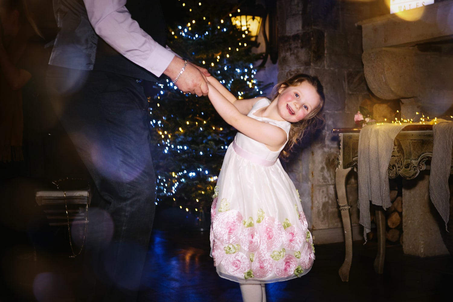 Le Petit Chateau, little girl on dancefloor