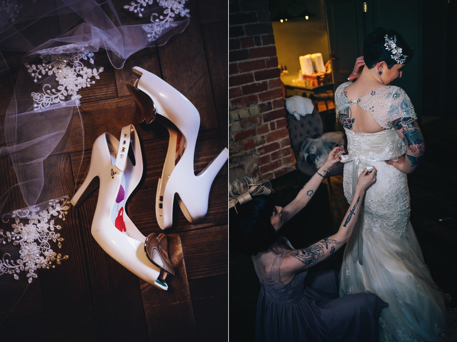 Le Petit Chateau, wedding shoes, getting ready
