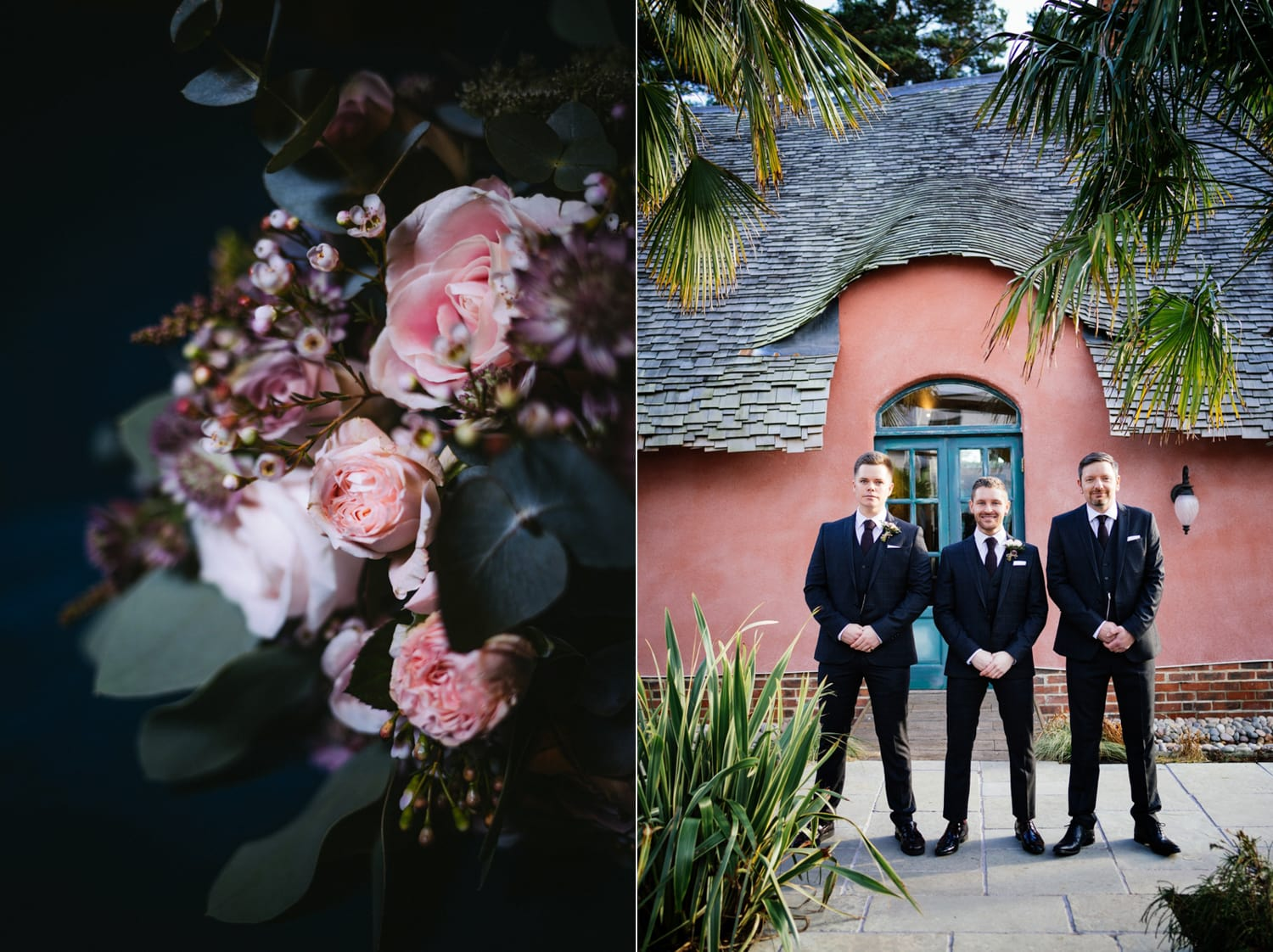 Le Petit Chateau groomsmen in suits
