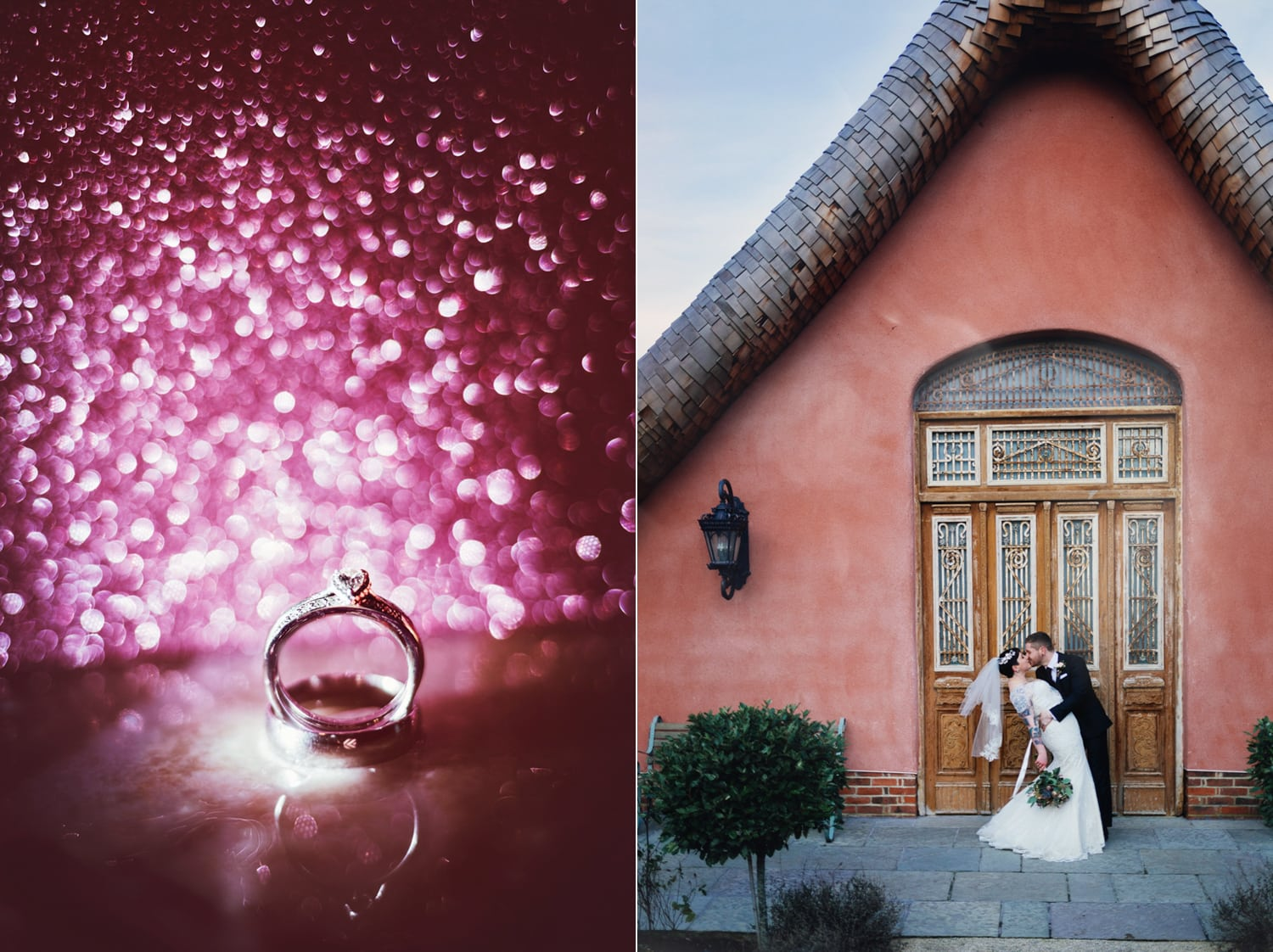 Le Petit Chateau, wedding ring and couplekissing