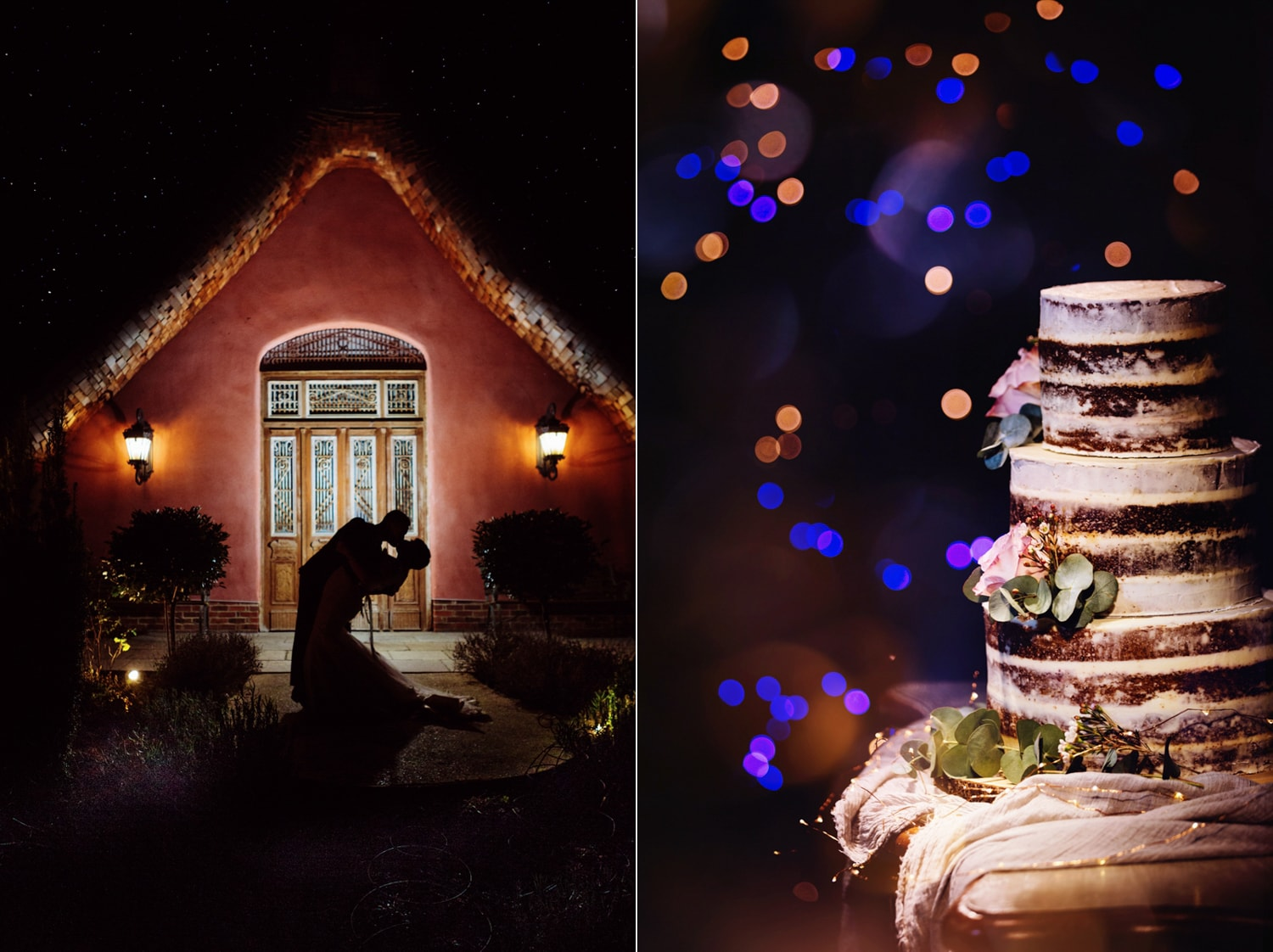 Le Petit Chateau, wedding cake and kiss